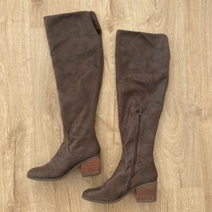 Report Brown Over The Knee Boots